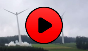 Wind turbine destruction